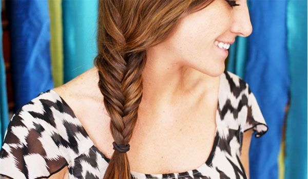 Wie man Fishtail Braid macht