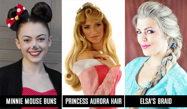 Disney Princess Frisuren für langes Haar